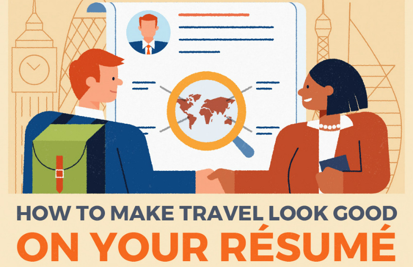 travel resume graphic