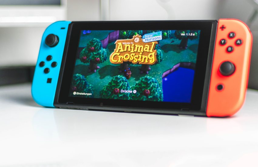 Nintendo Switch playing Animal Crossing