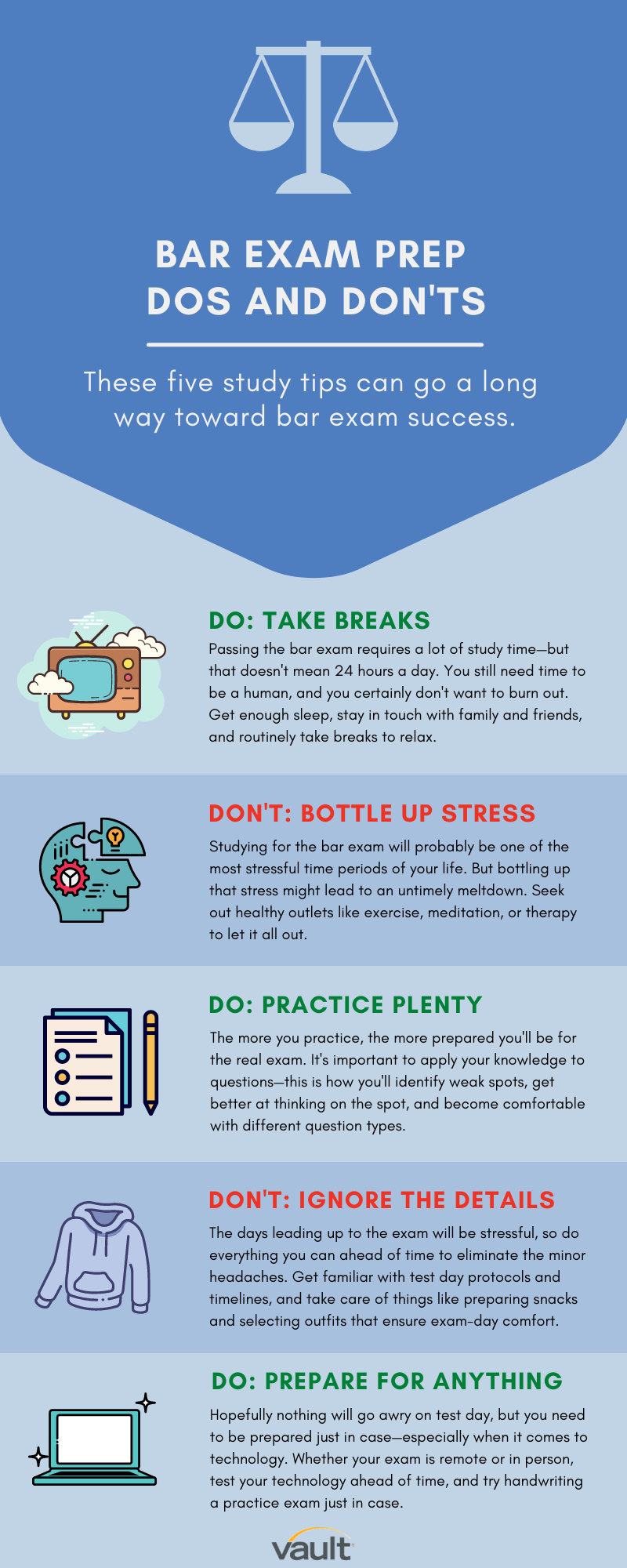 Infographic: Bar Exam Prep Dos and Don'ts