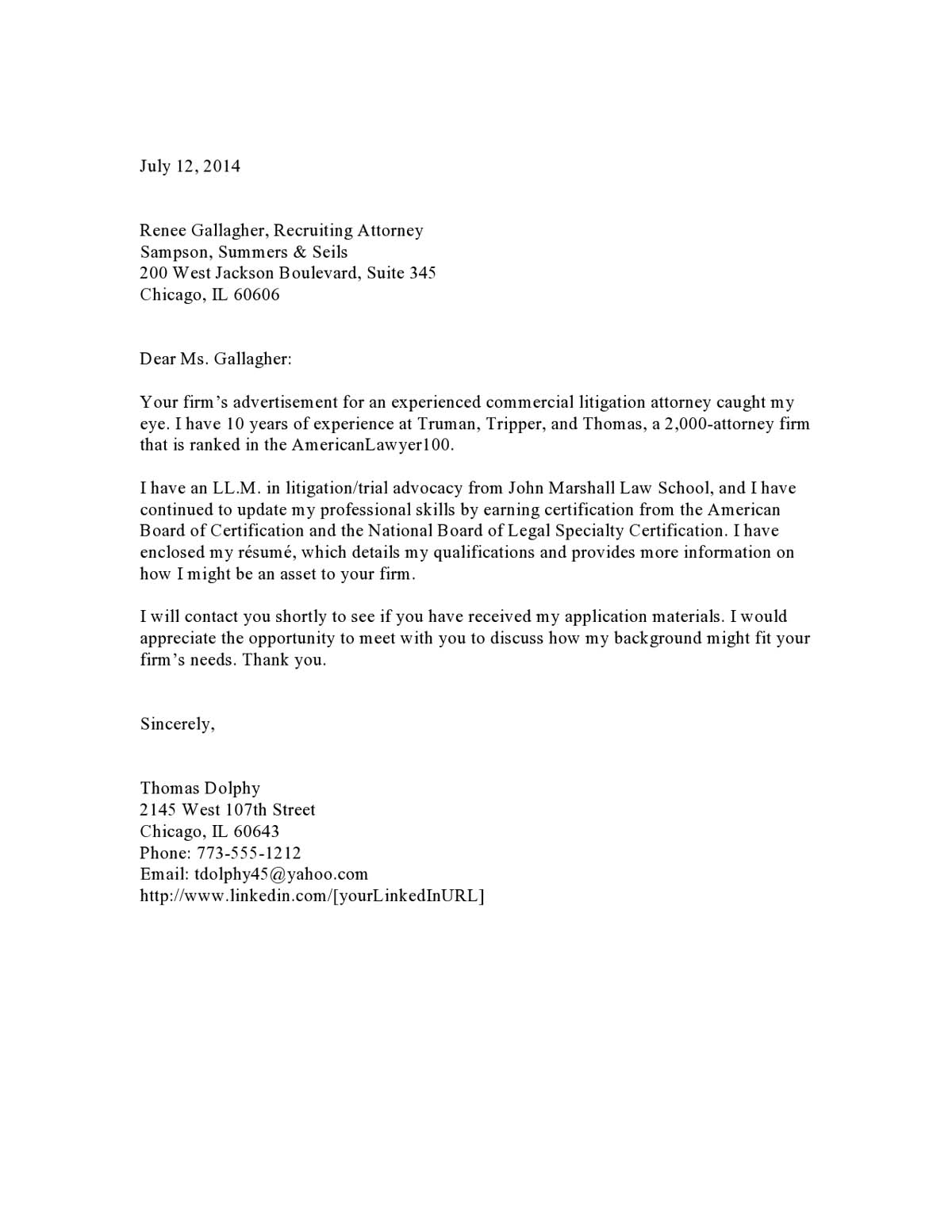 Cover Letter For Law Firm from media2.vault.com