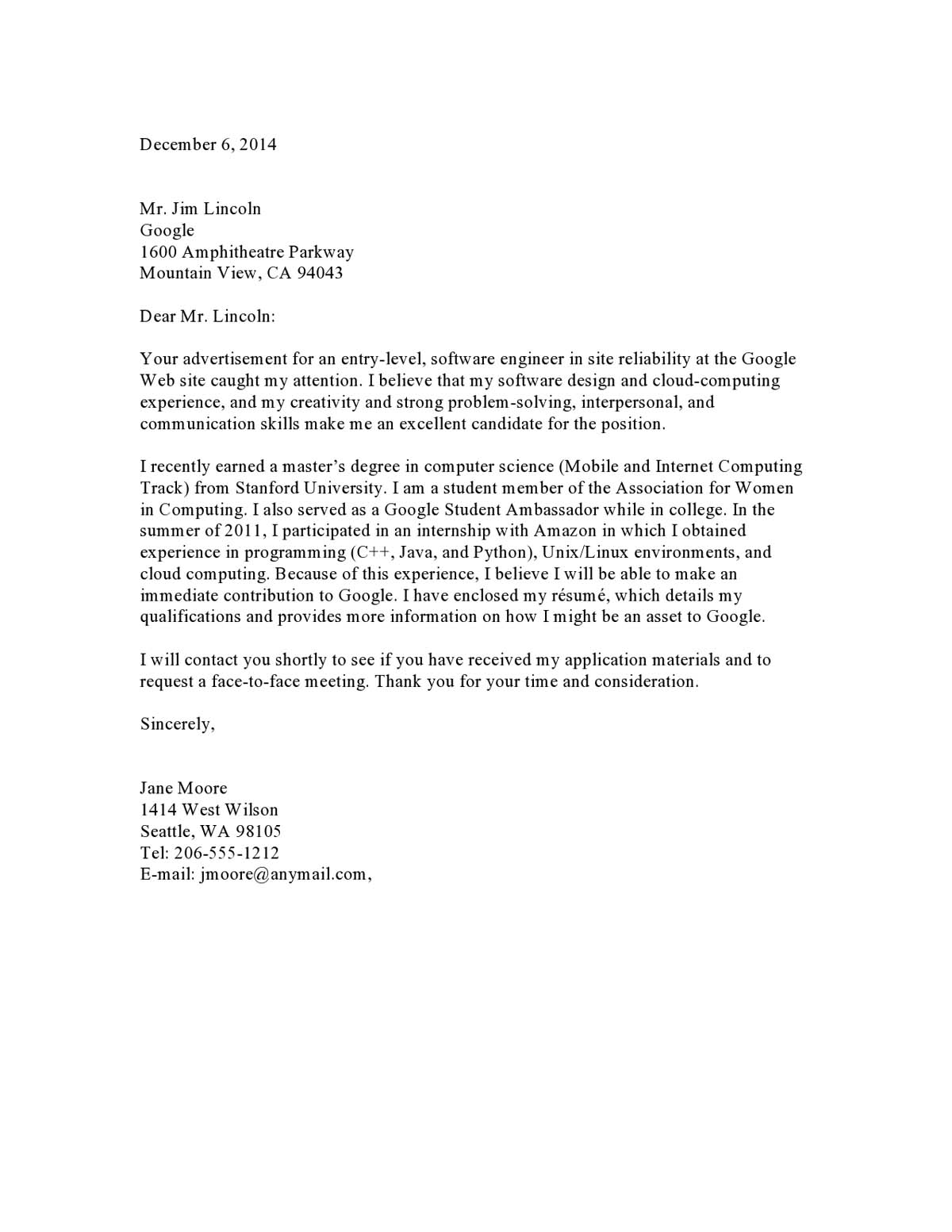 Cover Letter Template For Internship from media2.vault.com