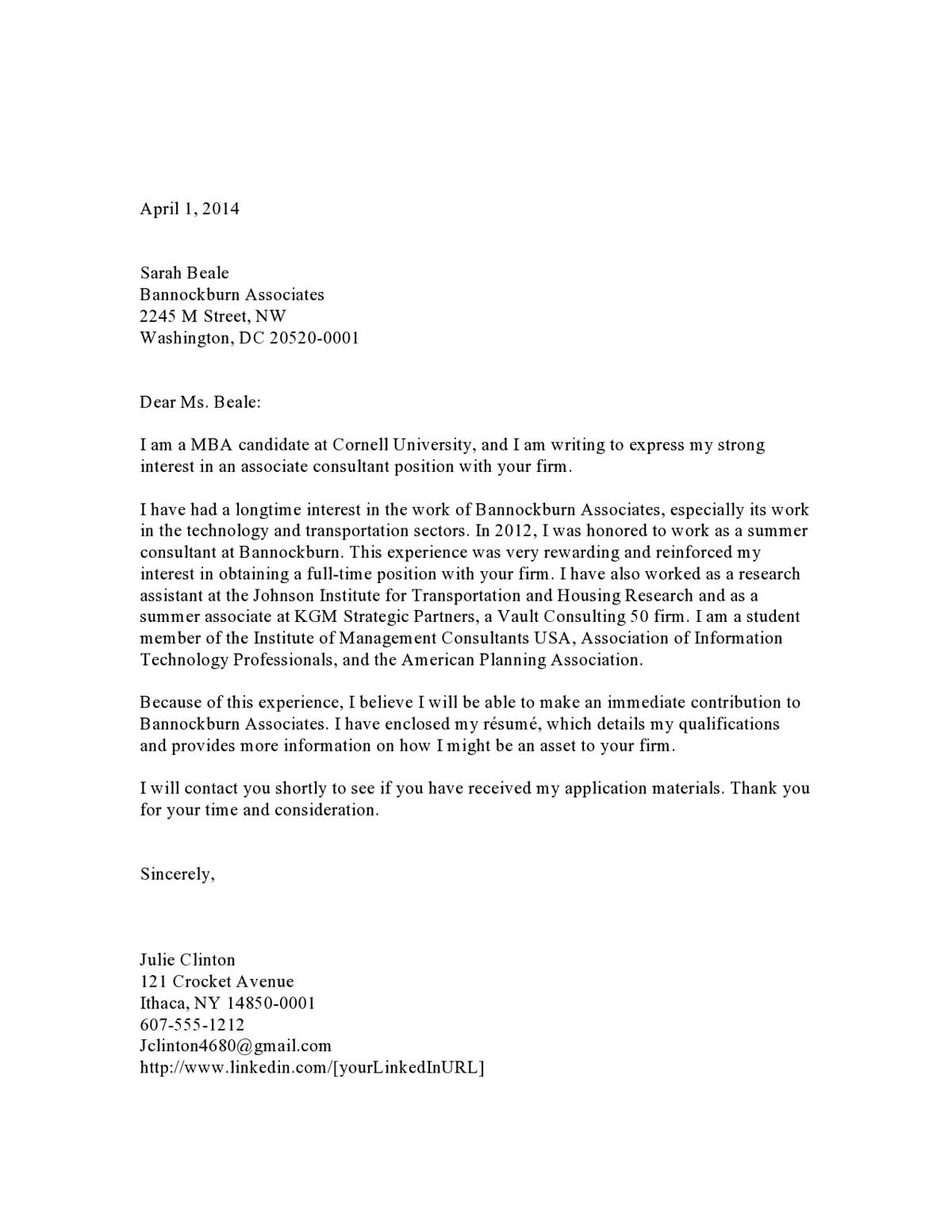 Cover Letter For Consulting Job from media2.vault.com