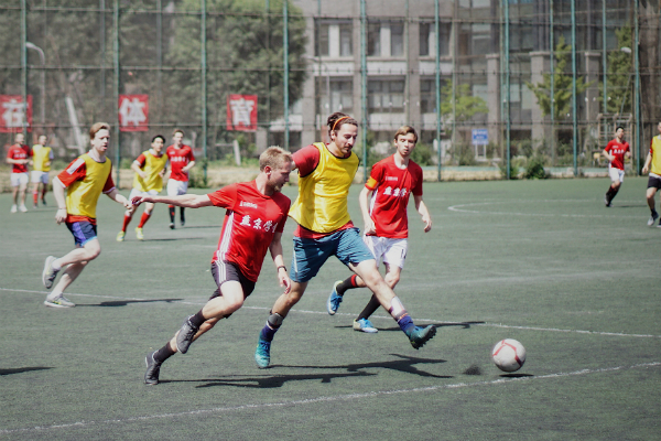 Men playing in a sports league