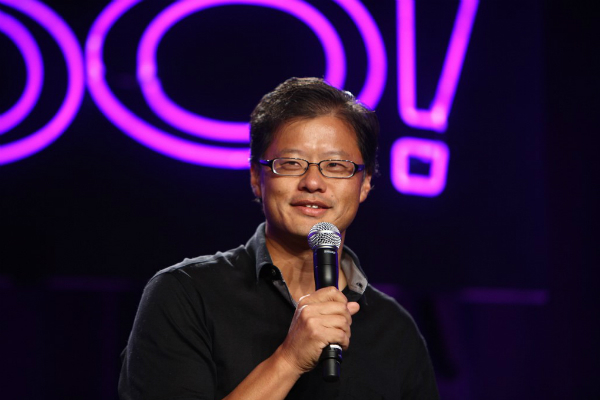 Jerry Yang during  a presentation