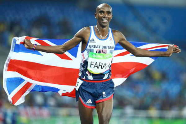 Mo Farah during a race