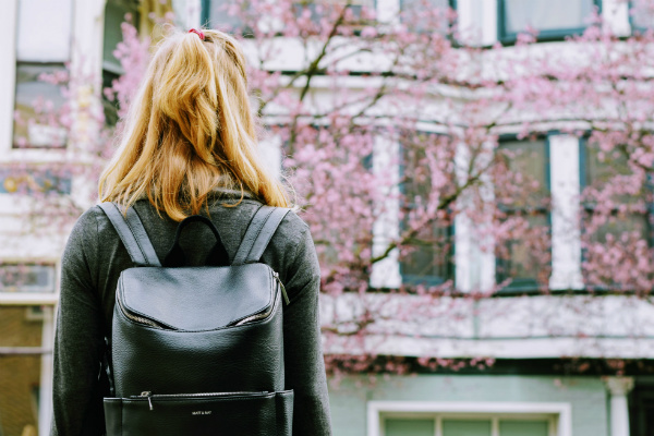 Woman Cherry Blossoms Backpack