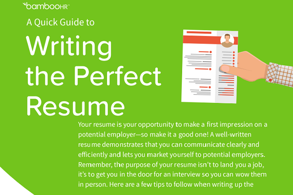 A Quick Guide to Writing the Perfect Resume