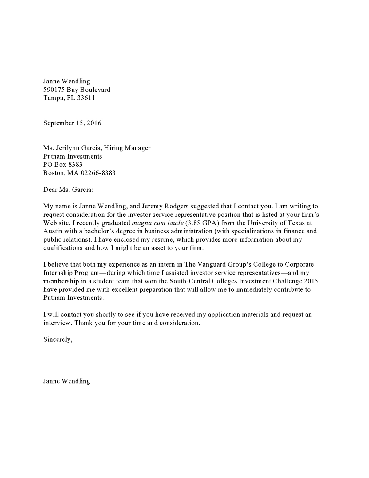 Professional Business Cover Letter from media2.vault.com